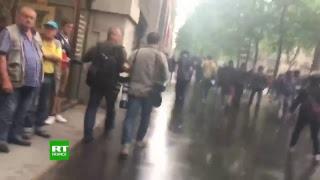 Affrontements lors de la manifestation de la fonction publique à Paris