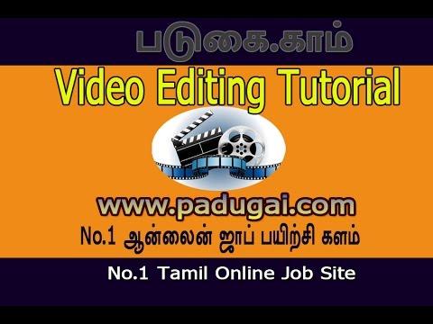 Video editing tutorial in tamil youtube.