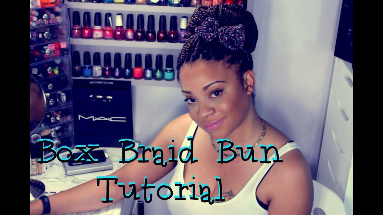 Box Braid Tutorial Perfect Cinnamon Bun Youtube