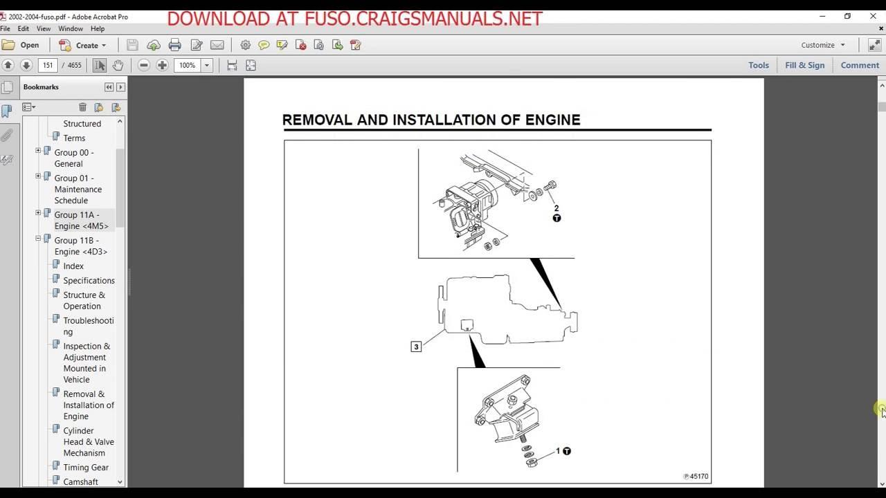 hight resolution of mitsubishi fuso service manual 2002 2003 u0026 2004 youtubemitsubishi fuso service manual 2002