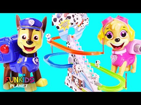 Paw Patrol & Puppy Dog Pals Play Dog Surprise Chasing Game Playset