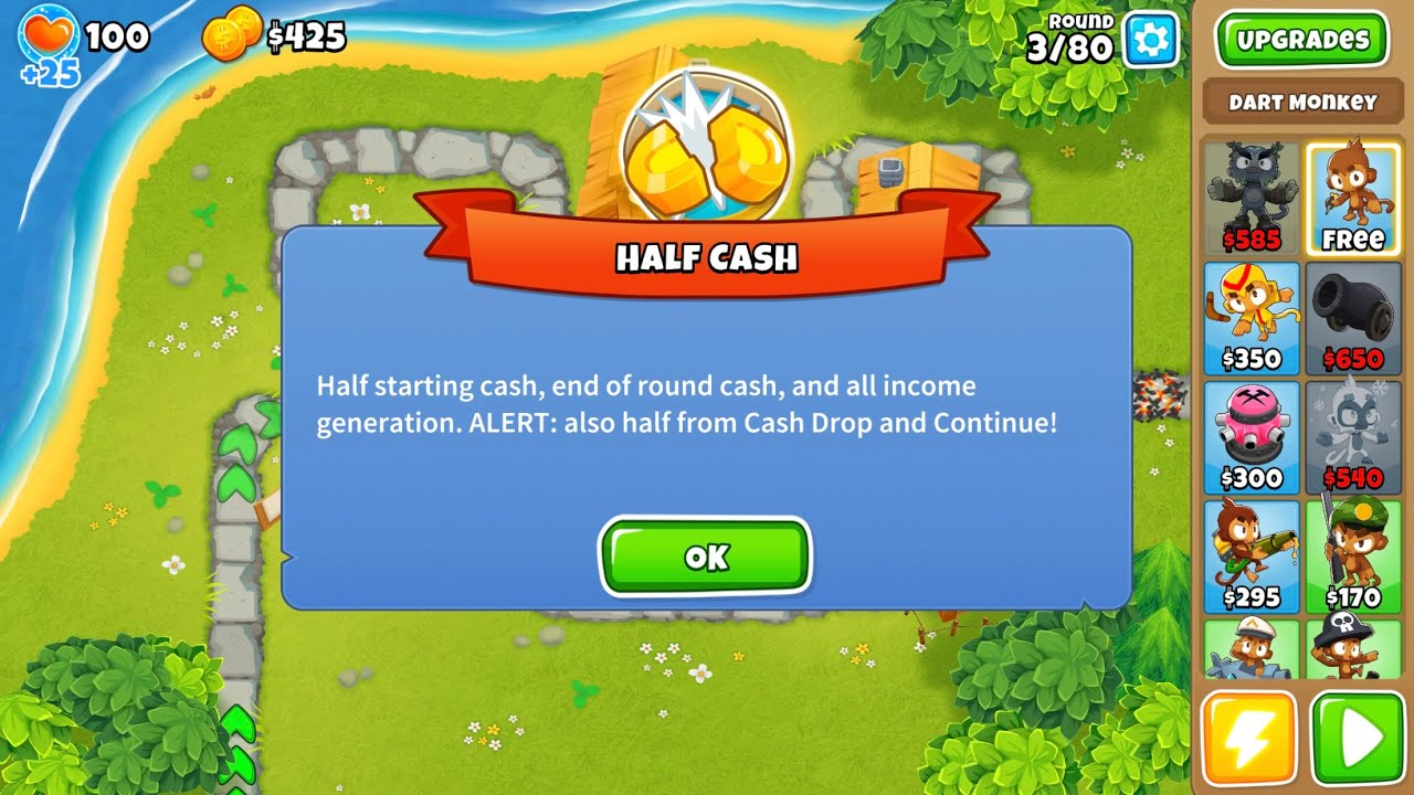 Bloons TD 6 - Half Cash - Town Center [No Sound, Sorry]