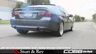video sick 400 hp e90 bmw 335i w cobb exhaust modauto sound demo