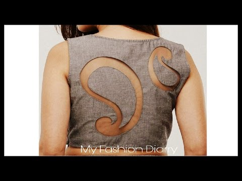 DIY | latest back blouse design | convert ur old blouse back to latest back design