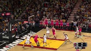 nba 2k14 full game gameplay 1080p maximum graphics settings Bulls v. Heat