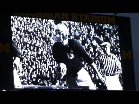 Michigan Football Legend Tom Harmon Presentation at Notre Dame Night Game 2013