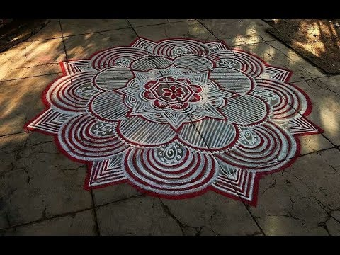 how  to Draw pulli  Kolam| DRAW KOLAM WITHOUT PULLI
