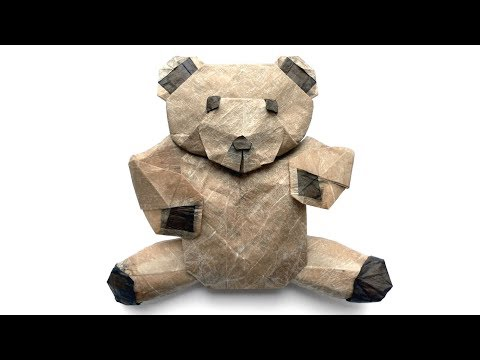 origami-fluffy---teddy-bear-tutorial-(marc-kirschenbaum)-折り紙-テディベア-mother's-day