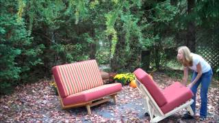 Freedom Loveseat And Chair For The Outdoors Make A Full Bed