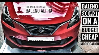 Baleno budget modification under 15k   Baleno bodykit and accessories Video