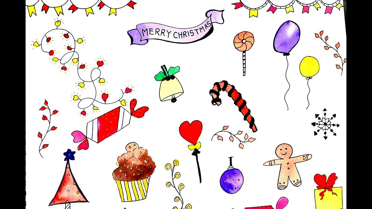 Creative doodle ideas for Christmas KIDS PART -1 - YouTube