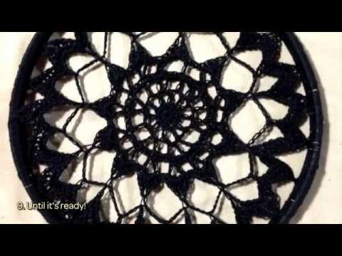How To Make A Beautiful Black Doily Dreamcatcher DIY Crafts Simple How To Make Doily Dream Catchers