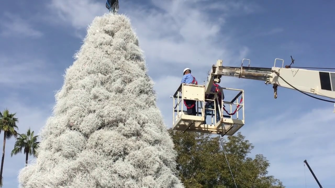 The Tumbleweed Christmas Tree Going Up In Chandler