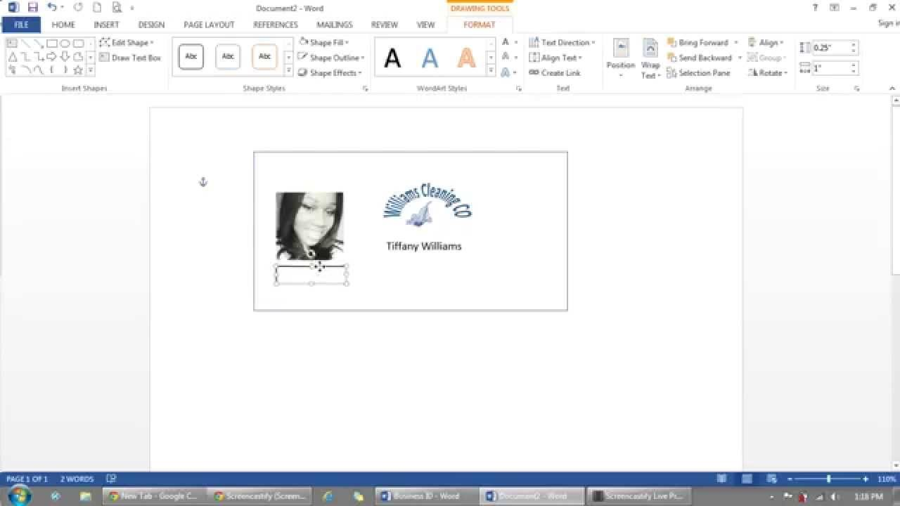 how to use microsoft word to make id badges