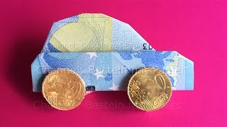 Money folding: Car - How to fold a car with money