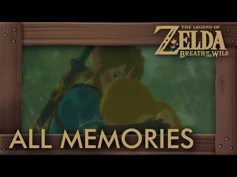 Zelda Breath of the Wild – All Memories (Zelda & Link Cutscenes) Full Past Story