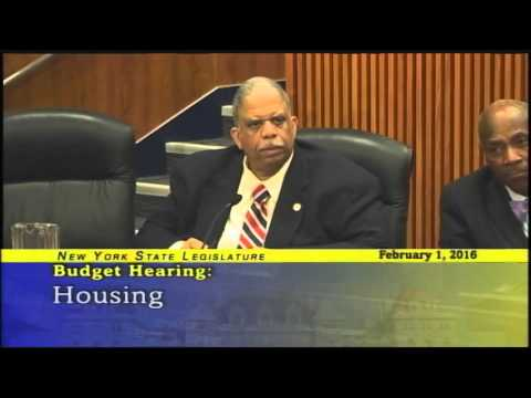 Senator Comrie questions NYS Homes & Community Renewal Commissioner James Rubin