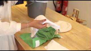 How to assemble and wash a washable nappy