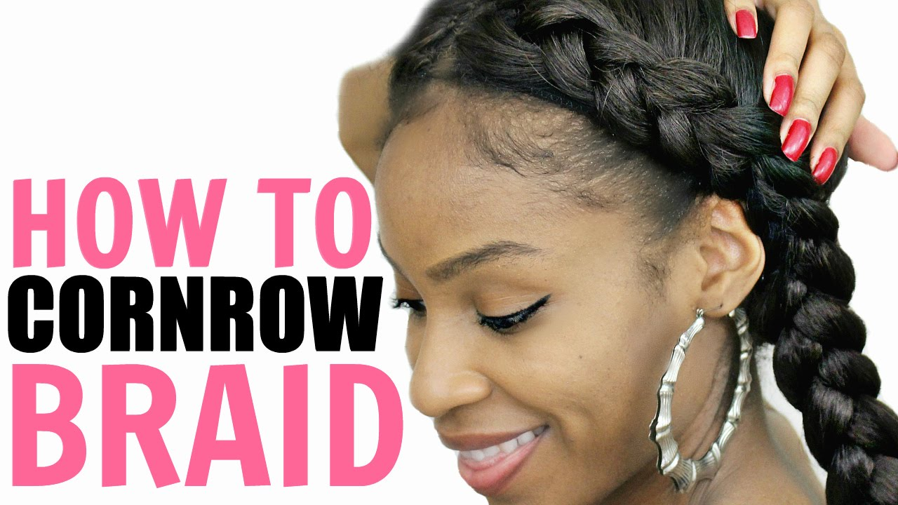 How To Cornrow Your Own Hair For Beginners Step By Step Youtube