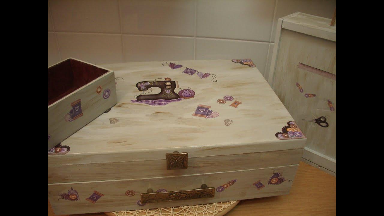 Como envejecer cajas madera reciclar youtube - Como decorar una caja de madera ...