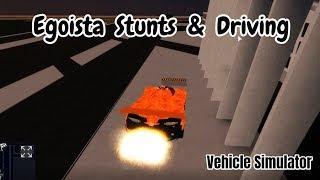 LAMBORGHINI EGOISTA STUNTS & DRIVING | VEHICLE SIMULATOR (ROBLOX)!