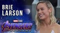 Brie Larson talks Captain Marvel joining the team LIVE from the Avengers: Endgame Premiere