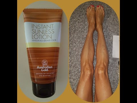 Australian Gold Instant Tanning Lotion ||| The Perfect Tanning Lotion? ||| 💛💛💛