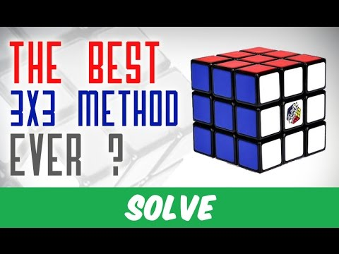 The easiest method to solve the Rubik's Cube !! 2 Algorithms only !