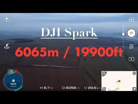 DJI Spark 6065m Distance Flight 12165m total!