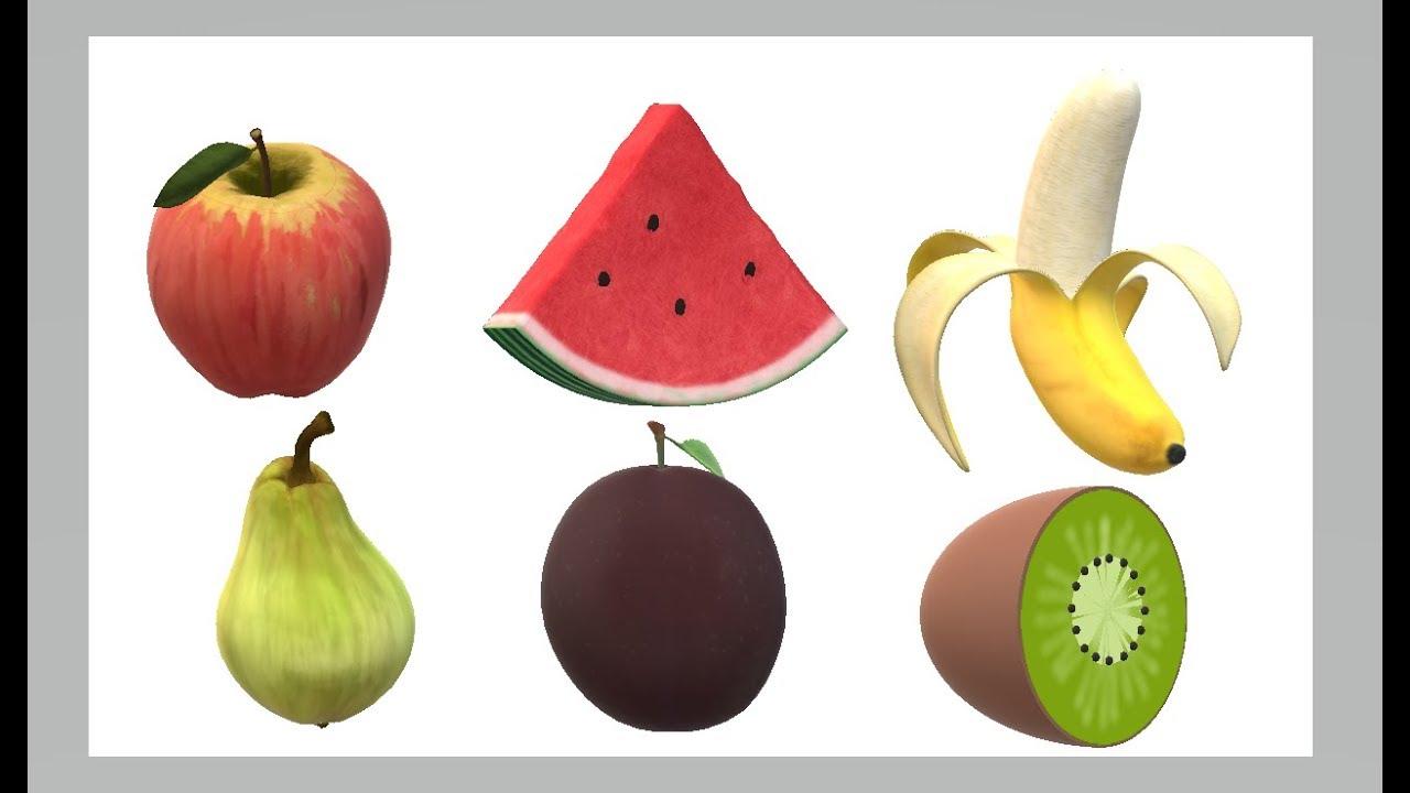 Früchte schneiden für Kinder (echte Früchte) Farben lernen / Cutting ...