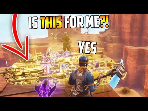 So I gave away MY WHOLE INVENTORY and made a kid cry... (Fortnite Save The World)