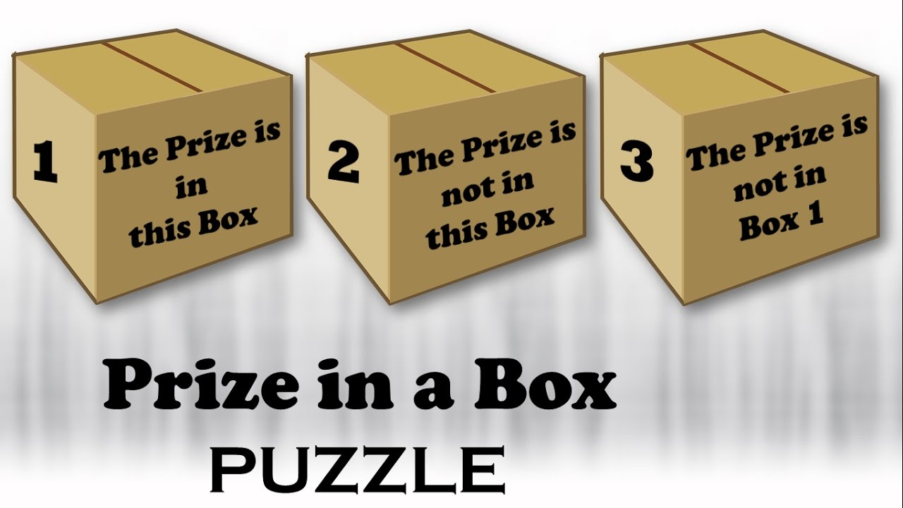 """Can you solve """"Prize in a Box PUZZLE"""" 