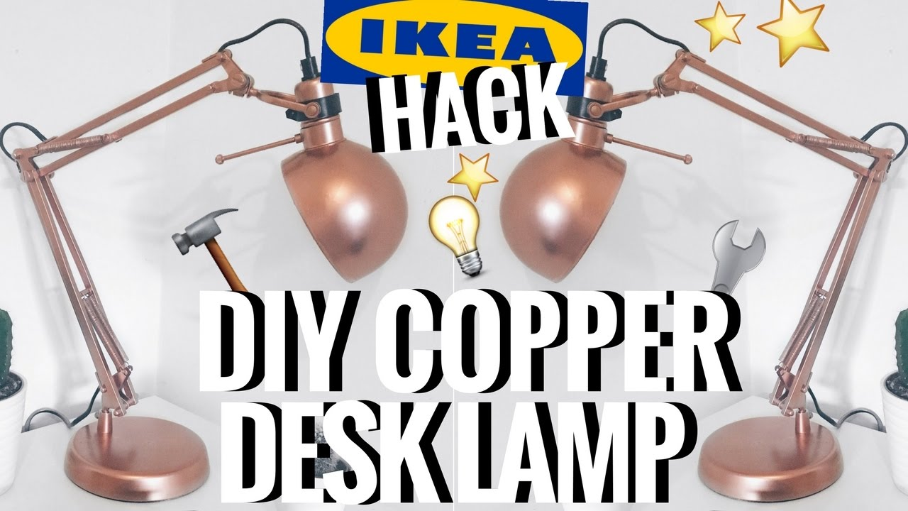 Ikea Hack Diy Copper Rose Gold Desk Lamp Ciara O