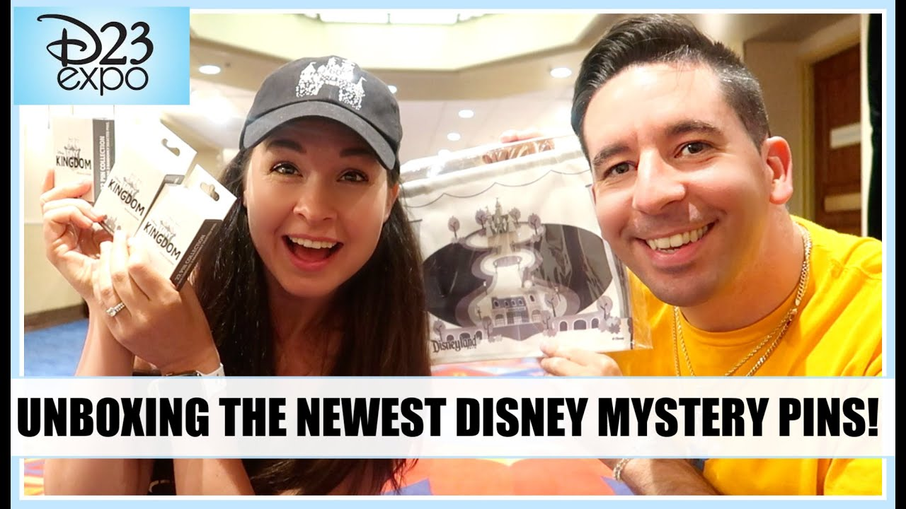 D23 EXPO 2019 Exclusive Disney Mystery Pin Unboxing! TINY KINGDOM PINS!  (Collab w/ Disney Pins Blog)