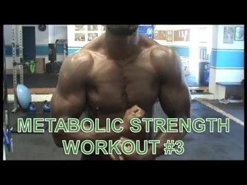 metabolic strength workout 3  youtube