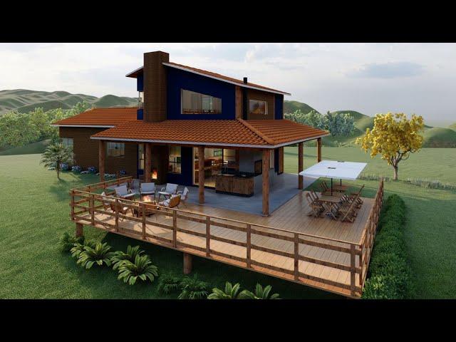 Animação 3d - Lumion - Casa de campo