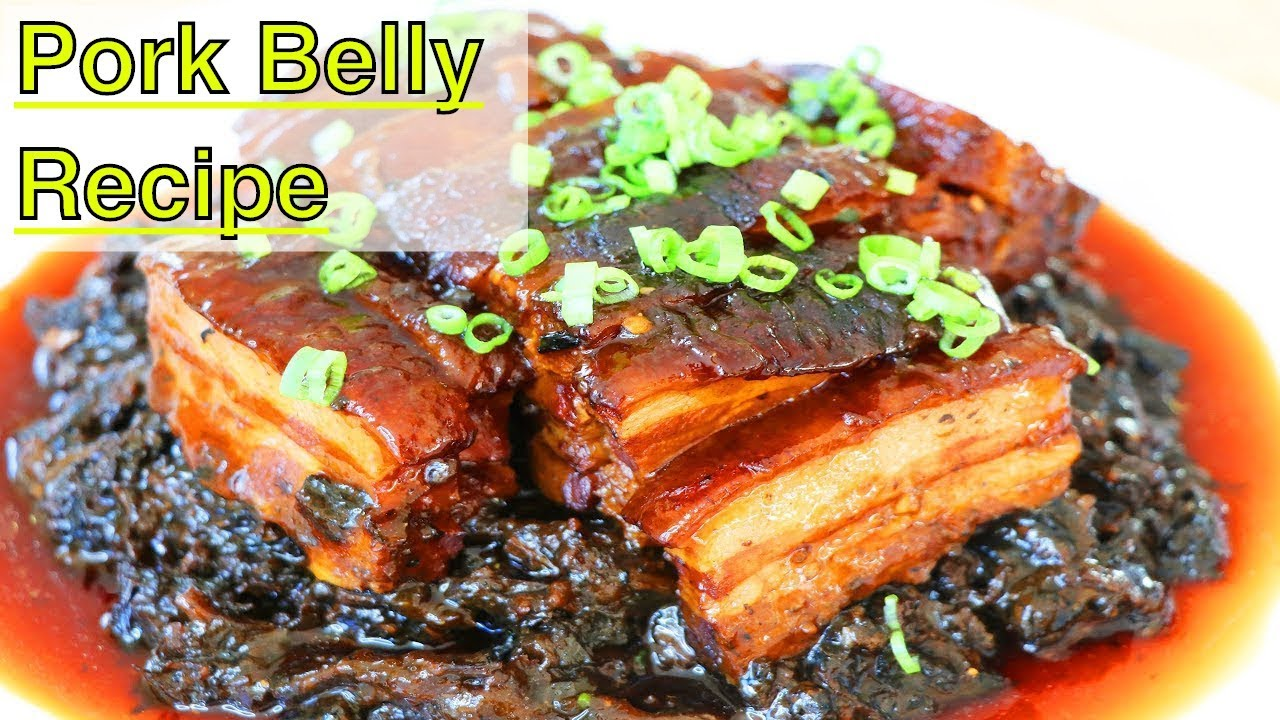 Pork Belly with Preserved Mustard Greens | CiCi Li - Asian Home Cooking  Recipes