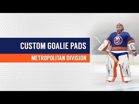 NHL 17 Custom Goalie Pads for All NHL Teams – Metropolitan Division