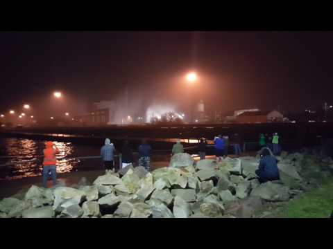 First Energy power plant Cleveland Ohio implosion  2017
