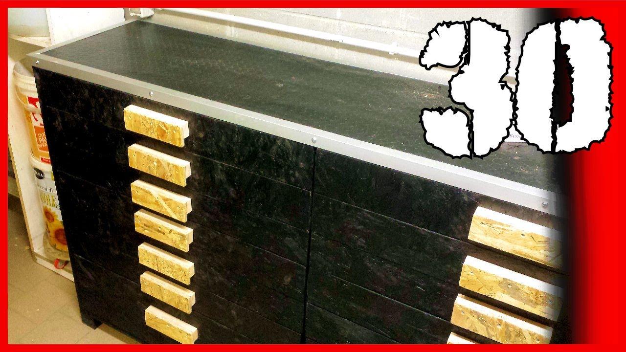Costruire Cassettiera In Legno.30 Cassettiera Porta Attrezzi Wooden Tool Drawer