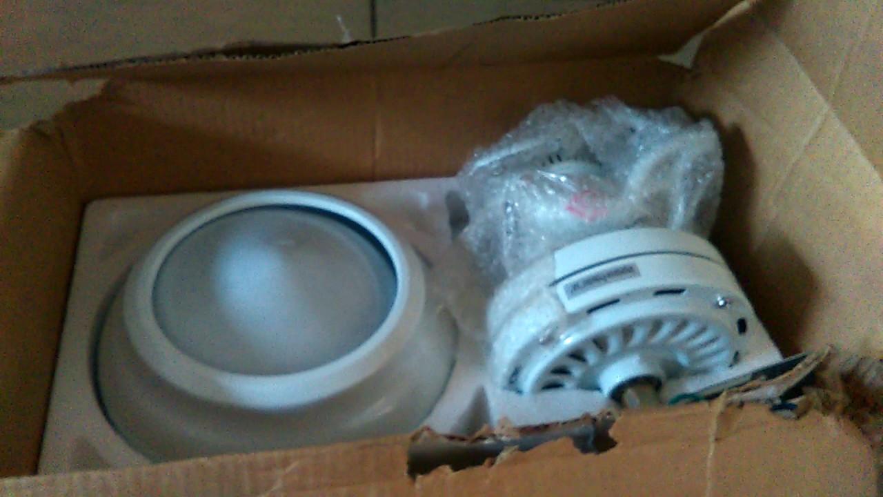 Unboxing The 42 Hampton Bay Littleton Ceiling Fan