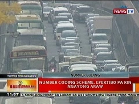 BT: Number coding scheme, epektibo pa rin ngayong araw