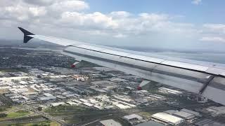 Landing in  Auckland