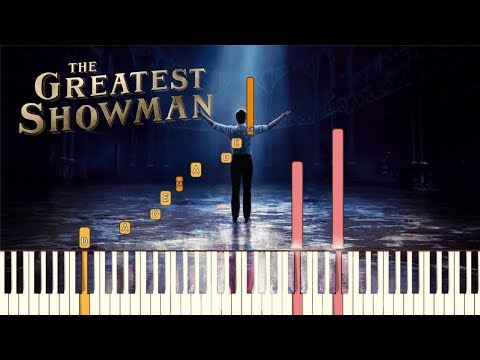 "The Greatest Showman - ""A Million Dreams"" [Piano Tutorial] (Synthesia)"