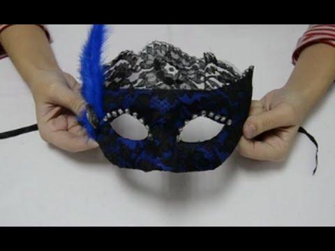 C mo hacer una m scara veneciana youtube - Como hacer una mascara ...