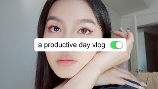 A Productive Day Vlog  ☁️👩🏻‍🍳