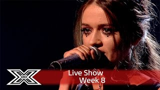 Emily Middlemas rocks out to Rag 'N' Bone Man's Human | Live Shows Week 8 | The X Factor UK 2016