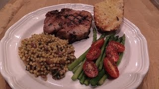 Grilled Pork Chops with Cilantro Lime Marinade