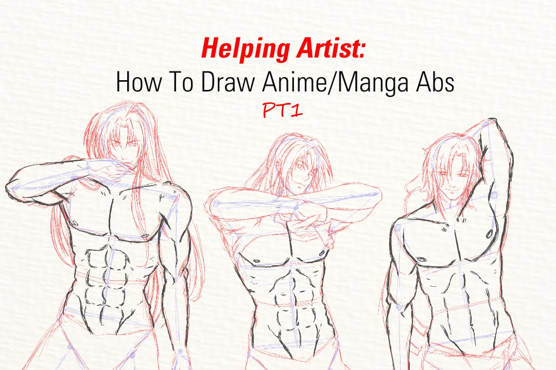 Helping Artist How To Draw Animemanga Abs Pt1 Youtube