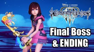 KINGDOM HEARTS 3 RE MIND DLC Final Boss & ENDING Gameplay [1080p]